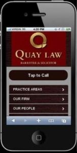 Quay Law Business Card iPhone App