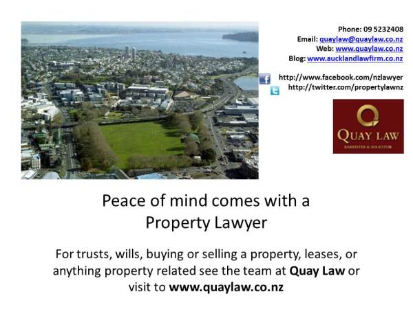 property lawyer Auckland and QuayLaw